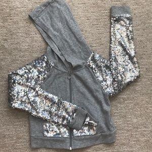 Justice crop sequins hoodie